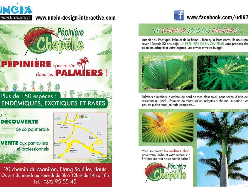 Publicité Réunion : Flyers pour Pépinière la Chapelle. (par Uncia Design Réunion)
