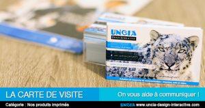 Carte de visite - Publicité Réunion par Uncia Design Interactive