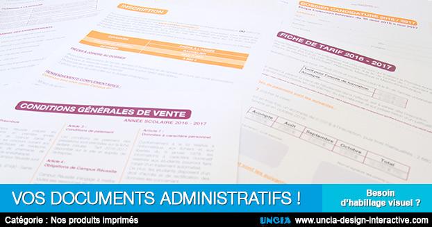 documents administratifs - Création ou refonte - Publicité Ile de La Réunion