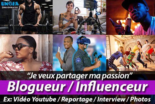 Blogueur - Influenceur - Partager Ma Passion