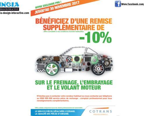 Cotrans, remise de 10% sur le freinage, l'embrayage et le volant moteur