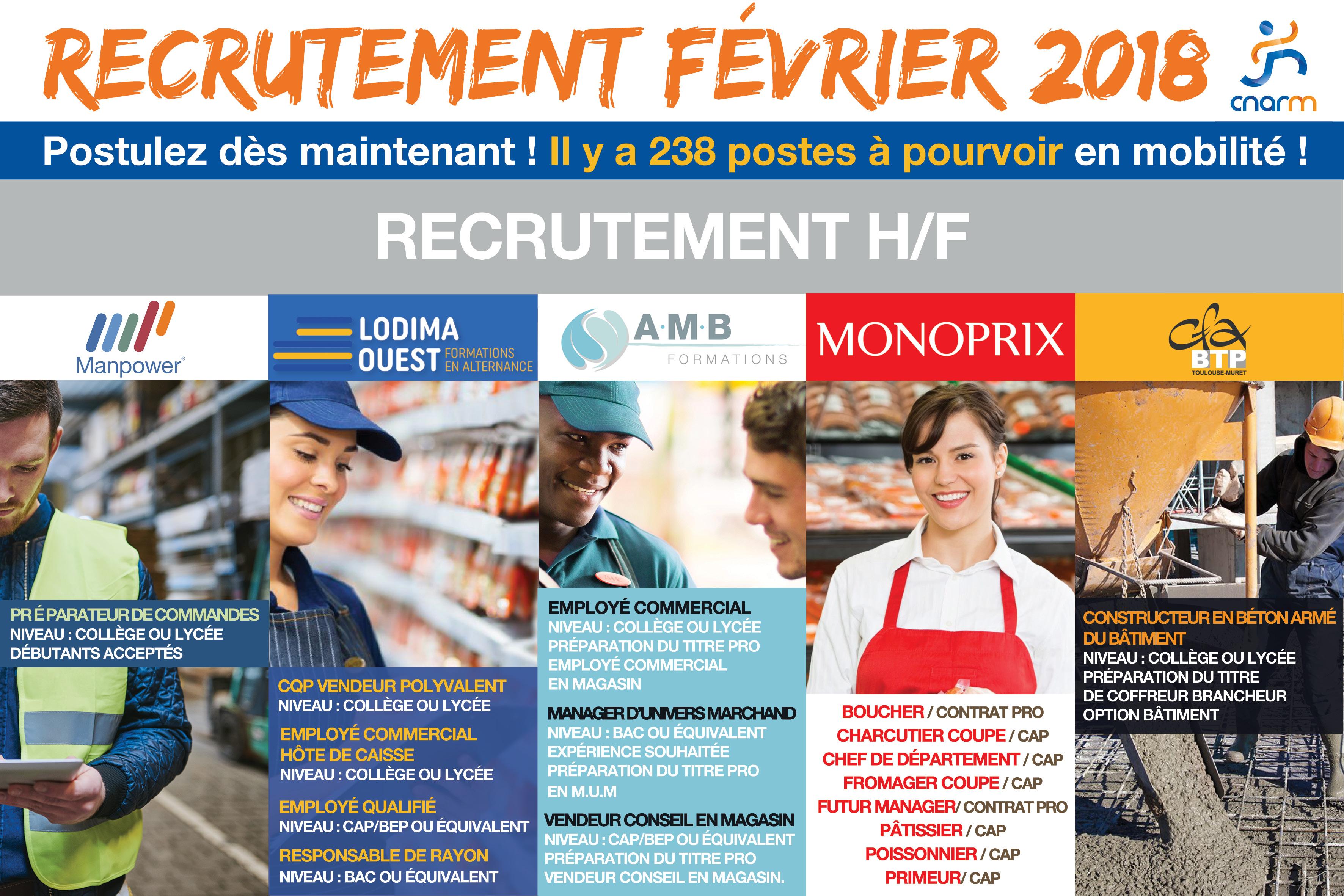 Recrutement emploi mobilité février 2018 - CNARM