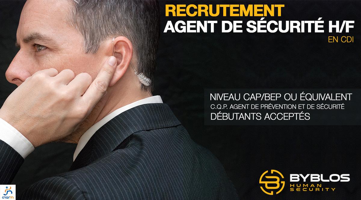 Recrutement emploi Agent Sécurité - Février 2018 - CNARM - BYBLOS
