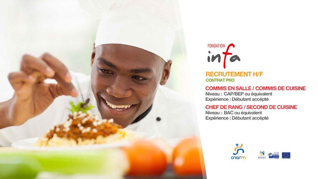 Recrutement contrat pro mai 2018 infa et le cnarm for Offre d emploi commis de cuisine paris