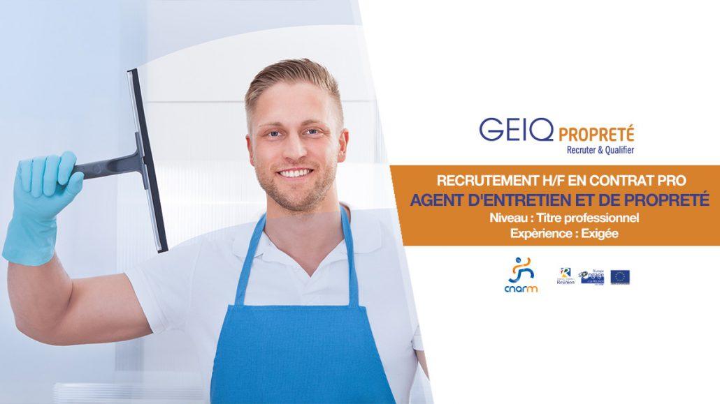 GEIQ PROPRETE recrutement avril 2018